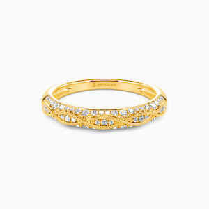 10K Gold Infinity Love Wedding Classic Bands