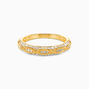 14K Gold Infinity Love Wedding Classic Bands