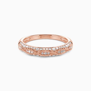 14K Rose Gold Infinity Love Wedding Classic Bands
