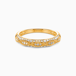 18K Gold Infinity Love Wedding Classic Bands