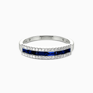 10K White Gold The Best Memories Wedding Classic Bands