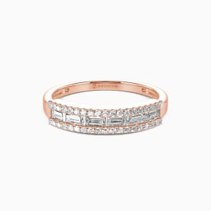 14K Rose Gold The Best Memories Wedding Classic Bands