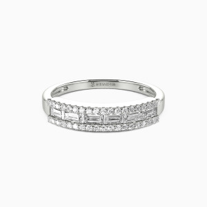 14K White Gold The Best Memories Wedding Classic Bands