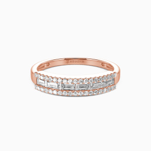 18K Rose Gold The Best Memories Wedding Classic Bands