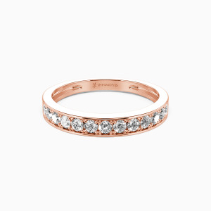 14K Rose Gold My Bright Star Wedding Classic Bands