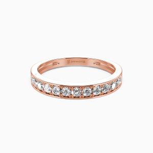 18K Rose Gold My Bright Star Wedding Classic Bands