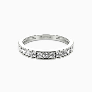 18K White Gold My Bright Star Wedding Classic Bands