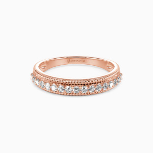 14K Rose Gold The Power Of Love Wedding Classic Bands