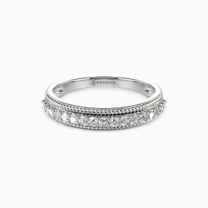 14K White Gold The Power Of Love Wedding Classic Bands