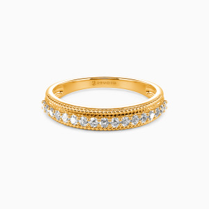 18K Gold The Power Of Love Wedding Classic Bands