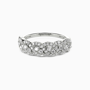 18K White Gold Just the Way You Are Wedding Classic Bands