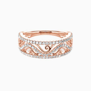 14K Rose Gold My All Wedding Classic Bands