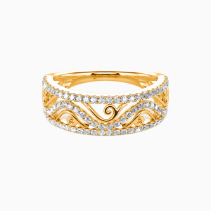 18K Gold My All Wedding Classic Bands