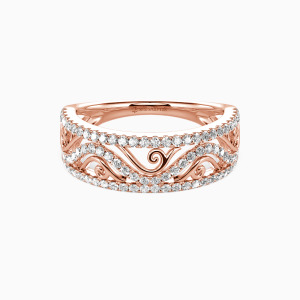 18K Rose Gold My All Wedding Classic Bands