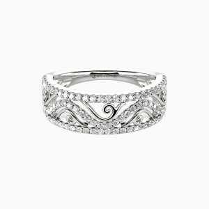 18K White Gold My All Wedding Classic Bands