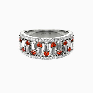 10K White Gold My Sunshine Wedding Classic Bands