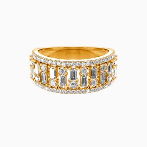 18K Gold My Sunshine Wedding Classic Bands