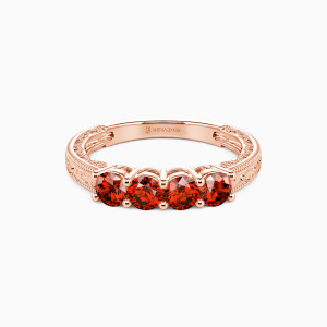 10K Rose Gold Never Apart Wedding Classic Bands