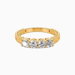 18K Gold Never Apart Wedding Classic Bands