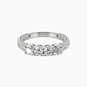 18K White Gold Never Apart Wedding Classic Bands