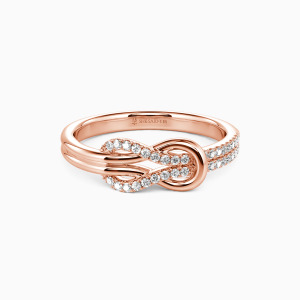14K Rose Gold Around You Wedding Classic Bands