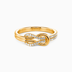 18K Gold Around You Wedding Classic Bands