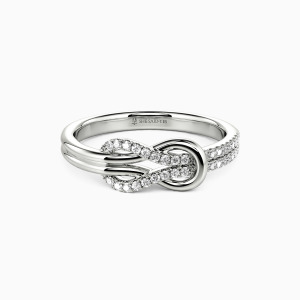 18K White Gold Around You Wedding Classic Bands