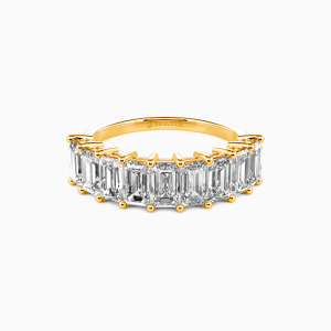 14K Gold You Mean the World to Me Wedding Classic Bands