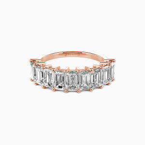 14K Rose Gold You Mean the World to Me Wedding Classic Bands