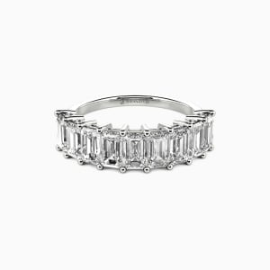 14K White Gold You Mean the World to Me Wedding Classic Bands