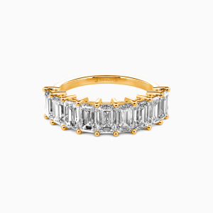 18K Gold You Mean the World to Me Wedding Classic Bands