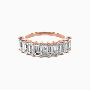 18K Rose Gold You Mean the World to Me Wedding Classic Bands