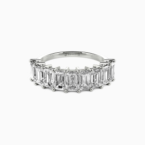 18K White Gold You Mean the World to Me Wedding Classic Bands