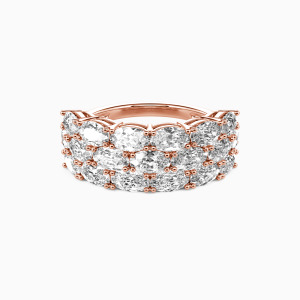 18K Rose Gold The Love Of My Life Wedding Classic Bands