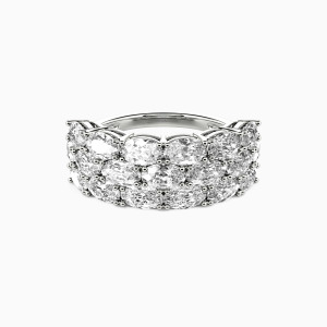 18K White Gold The Love Of My Life Wedding Classic Bands