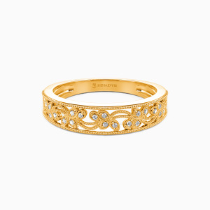 18K Gold I Love You More Wedding Classic Bands