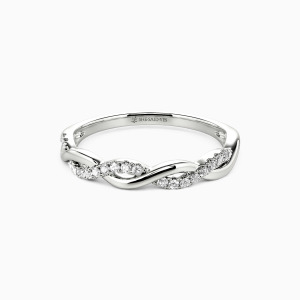 10K White Gold Love And Freedom Wedding Classic Bands