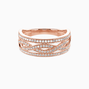 14K Rose Gold You Complete Me Wedding Classic Bands