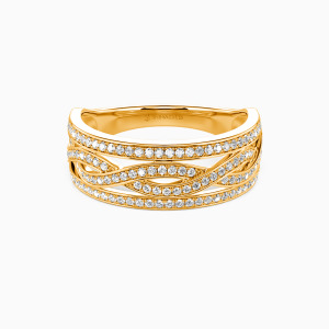 18K Gold You Complete Me Wedding Classic Bands