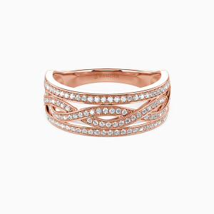 18K Rose Gold You Complete Me Wedding Classic Bands