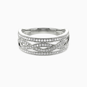 18K White Gold You Complete Me Wedding Classic Bands