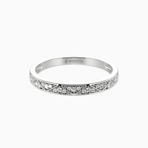10K White Gold Vows Of Love Wedding Classic Bands