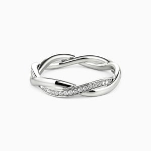 10K White Gold The Beginning Of Forever Wedding Classic Bands