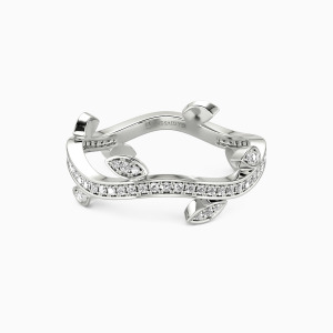 10K White Gold Spring In My Eyes Wedding Classic Bands