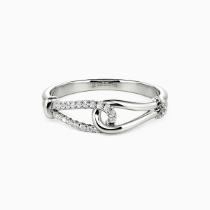 10K White Gold My End & My Beginning Wedding Classic Bands