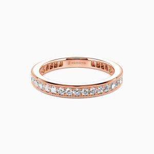 10K Rose Gold Amor para Siempre Wedding Eternity Bands