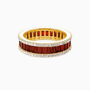 10K Gold Best Memories Wedding Eternity Bands