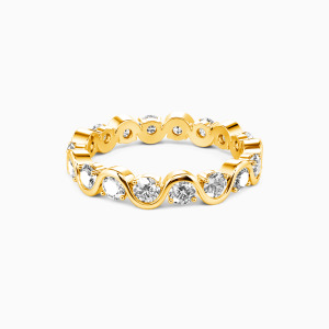 10K Gold The Beauty of Life Wedding Eternity Bands