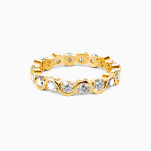 14K Gold The Beauty of Life Wedding Eternity Bands