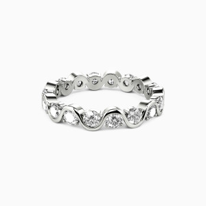 14K White Gold The Beauty of Life Wedding Eternity Bands